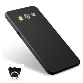 360 ultra-thin matte PC hard Cover Case For S amsung Galaxy J2 2015(J200(Black+Bear ring) - intl