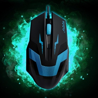 3D 1600DPI Wired Optical Gaming Mouse Mice For Laptop PC DesktopBlue - intl Price Philippines