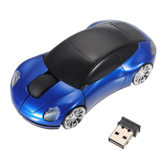 3D Wireless Optical 2.4G Car Shaped Mouse Mice 1600DPI USB For PCLaptop Blue Price Philippines