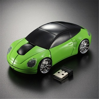 3D Wireless Optical 2.4G Car Shaped Mouse Mice 1600DPI USB ForComputer Green - intl Price Philippines