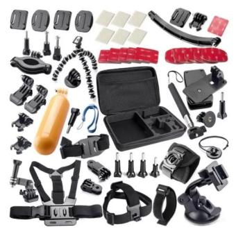 50 in 1 Sports Action Camera Accessories Kit for Gopro HERO 1 2 33+ 4 SJ4000 SJ5000 Waterproof Video Camera with Carrying Case