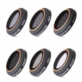 6Pcs ND4/ND8/ND16/ND32 CPL MC-UV Lens Filter for DJI