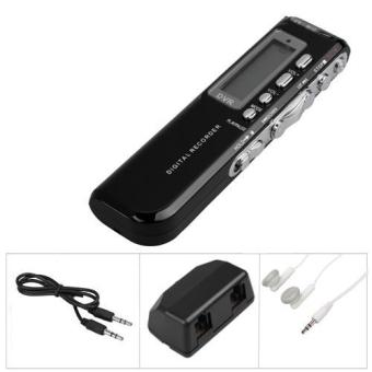 8GB LCD Digital Voice Recorder 8G Dictaphone MP3 Player + Speaker Microphone Mic