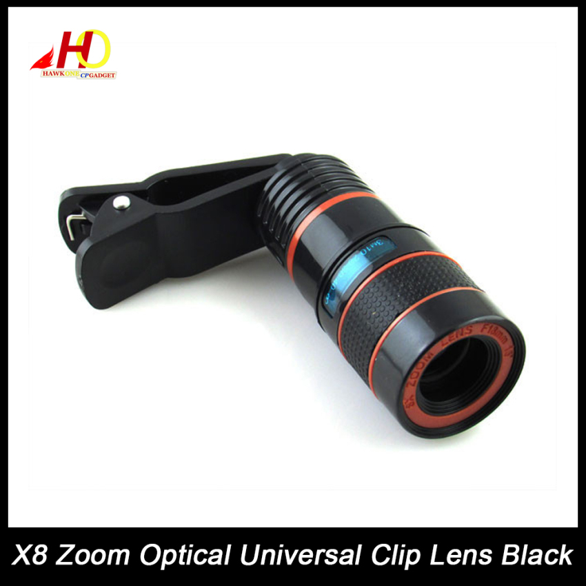 8x Zoom Universal Telescope Clip Lens for Smartphone (Black)
