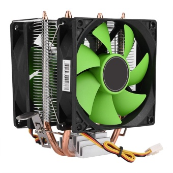 90mm 3Pin Dual-sided Fan CPU Cooler Heatsink Quiet for IntelLGA775/1156/1155 AMD AM2/AM2+/AM3 - intl Price Philippines