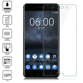 9H+ Premium Tempered Glass Screen Protector Guard Film for Nokia 6- intl