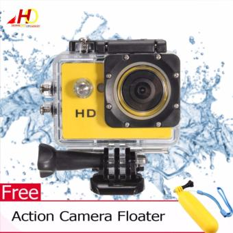 A7 Ultimate Sports Action Cam Under Water Extreme (Yellow) w/ FREE Action Camera Floater