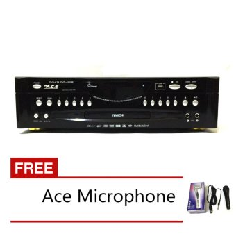 Ace MIDI-4500 Karaoke DVD Player with Games and Radio with FREEAce-504 Microphone