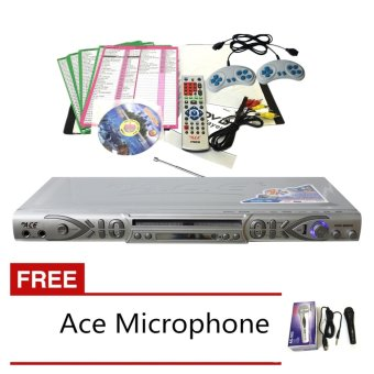 Ace MIDI-8595 Slim All In One Karaoke/DVD Player Set with Games andRadio (Silver)