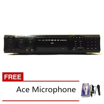 Ace MIDI-9908 Karaoke DVD Player with Games and Radio (Black) withFREE Ace-504 Microphone