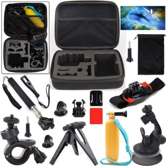 Action Sports Camera Accessories Kit for SOOCOO/SJCAM/Gopro ActionCamera