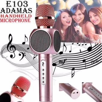 ADAMAS E103 Magic Karaoke Player Wireless Bluetooth Microphones andSpeaker (Rose Gold) Price Philippines