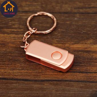 Adventurer 16GB USB2.0 Metal Clip Flash Memory Drive Stick PenThumb Disk (Rose Gold)