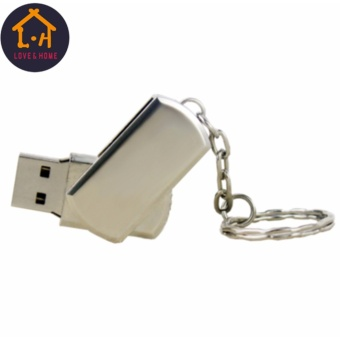 Adventurer 16GB USB2.0 Metal Clip Flash Memory Drive Stick PenThumb Disk (Silver)