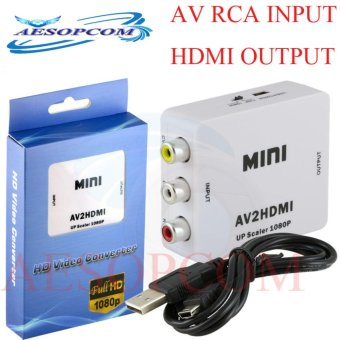 AESOPCOM AV RCA (input) to HDMI (output) Converter Adapter FULL HD1080P