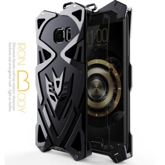 Aluminum Metal Frame 2 Back Cover Case for Samsung Galaxy S6 Edge (black) - intl