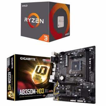 AMD Ryzen 3 1300X (Quad-Core, 3.7 GHz Boost) Processor with WraithStealth Cooler and Gigabyte GA-AB350M-HD3 AMD B350 (Socket AM4)DDR4 Micro ATX Motherboard Bundle Price Philippines
