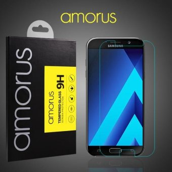 AMORUS Tempered Glass Screen Protector Mobile Film for Samsung Galaxy A7 (2017) A720 - intl
