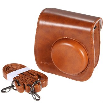 Andoer Leather Camera Bag for Fuji Fujifilm Instax Mini8 Mini8s - Intl