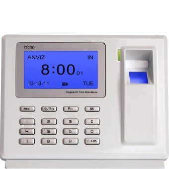 Anvis D200 Biometric Fingerprint Time Attendance (White)