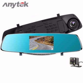 Anytek X3 4.3 inch HD Car Rear View Mirror Dash Camera Recorder (Silver)