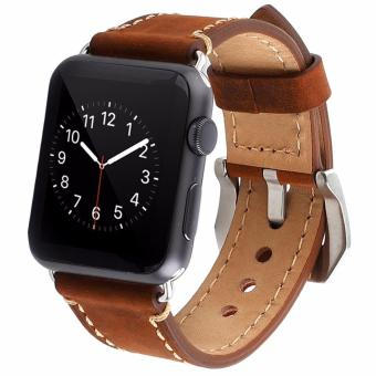 Niceeshop 42mm Genuine Leather Loop With Magnet Lock Strap Source · Apple Watch Premium Leather Replacement