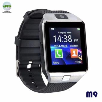 APPO M9 Bluetooth Phone Quad Smart Watch Touchscreen with Camera(Silver)