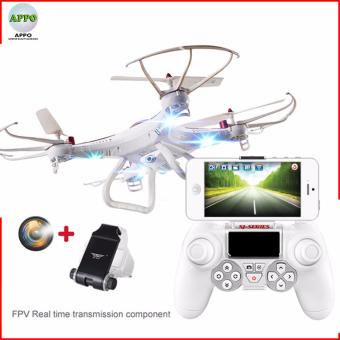 APPO SJR/C X-series X300-1CW 2.4 GHz Gyro Realtime TransmissionQuadcopter Drone with HD Camera 6 Axis 4 CH (White)