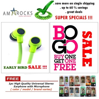 Assorted High Bass Stereo Sound Earphone / Headsets with Microphonefor Cherry Mobile Phone Model (All Model Compatible)
