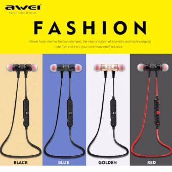 Awei A920bl Sweat-Proof with Magnetic Lock In-Ear Bluetooth Headset (Golden)