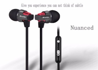 Awei ES-860hi High Quality Super Bass In-ear Headphone With MicAdjustable Volume 3.5mm Earphones Headsets Stereo Earbuds forMobile Phone - intl