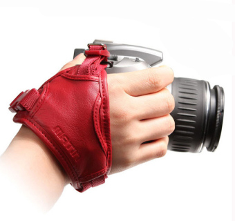 Backpacker leather camera wrist strap