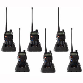 Baofeng / Pofung UV5R VHF/UHF Dual Band Two-Way Radio Set of 6(Black)