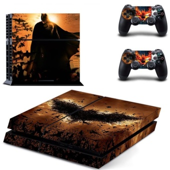 Batman VS Joker PS4 Decal Skin Sticker For Sony Playstation 4Console protection film +2Pcs Controllers Protective Cover DPTM1319- intl