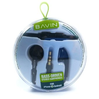 Bavin Bass Driven Stereo Earphones (Black)