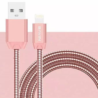 Bavin Electroplated Lightning Cable for iPhone 6 (Rose Gold)
