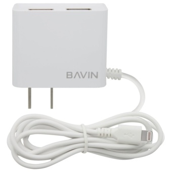 Bavin Fast Charger with 2 extra USB Ports for iPhone 5s (White)