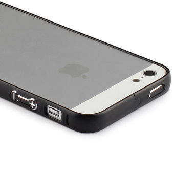 Black Aluminum Metal Bumper Frame Case Cover for Apple iPhone 5 /5S / SE