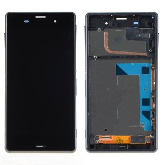 Black Touch Screen LCD Digitizer Display+Frame For Sony Xperia Z3D6603- - intl
