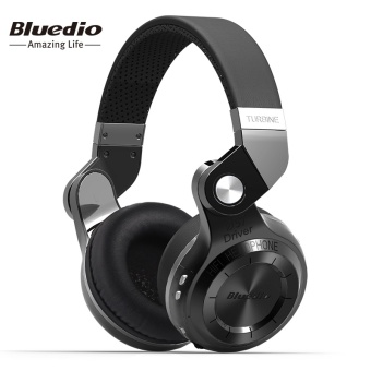 Bluedio T2 Bluetooth Stereo Headset Built-in Mic BT4.1 WirelessNoise Cancellation Headphones With Microphone (Black) - intl