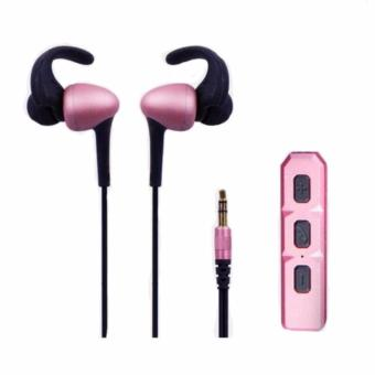 Bluetooth Headset Sport Headphone Stereo Fashion Earphone(RoseGold)