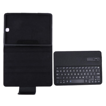 Bluetooth Keyboard Leather Case + Stand for Samsung Galaxy Tab S2T810/Tab(Black) - intl