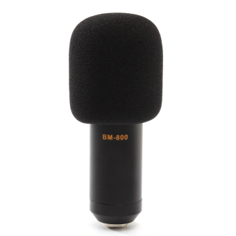 BM800 Condenser Microphone Mic Sound Studio Recording Kit With Shock Mount Kit (Black) -