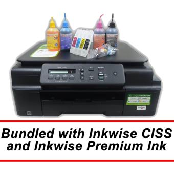 Brother DCP-J105 Wireless 3-in-1 Multi-Function Printer with Inkwise Premium Continuous Ink System and Premium UV-Dye Ink