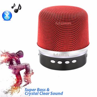 BY1030 Microphone Shape Music Bluetooth Changing Color Speaker With Subwoofer Loudspeaker (Red)