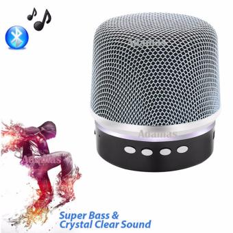 BY1030 Microphone Shape Music Bluetooth Changing Color Speaker With Subwoofer Loudspeaker (Silver)