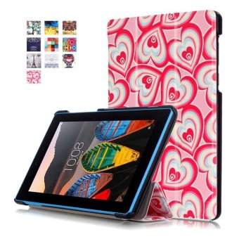 BYT Colorful Printing Tablet Leather 3 Folio Flip Cover Case for Lenovo Tab3 7 Essential TB3-710F/IF - intl