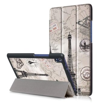 BYT Colorful Printing Tablet Leather 3 Folio Flip Cover Case for Lenovo Tab3 8 Plus / P8 (TB-8703F/X) - intl