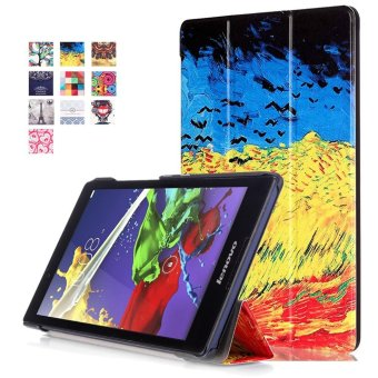 BYT Colorful Printing Tablet Leather 3 Folio Flip Cover Case for Lenovo Tab3 8 TB3-850F / Tab2 A8-50F - intl