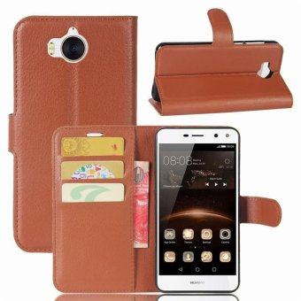 BYT Leather Flip Cover Case for Huawei Y5 (2017) - Int'l